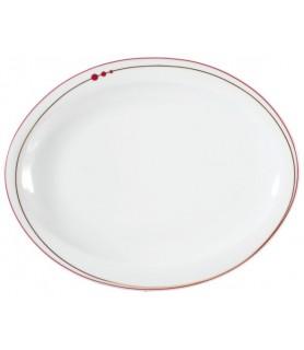 Krožnik plitvi oval 25x20 cm Top Life 22539