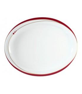 Krožnik oval 29x24 cm Top Life 22539