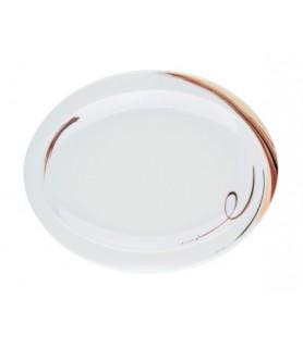 Krožnik plitvi oval 25x20 cm Top Life 23434