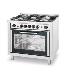 Plinski štedilnik - 5 gorilnikov z električno pečico