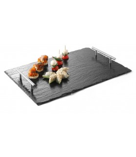 Set- melamin  plošča z ročaji pravokotnik 300x450x(h)40 mm