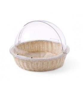 Košara za  kruh s pokrovom za rolo ø 300 mm