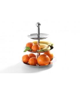 Etagere za  sadje 3-delni inox