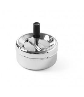 Pepelnik  na  pritisk (d)90x(h)45 mm inox