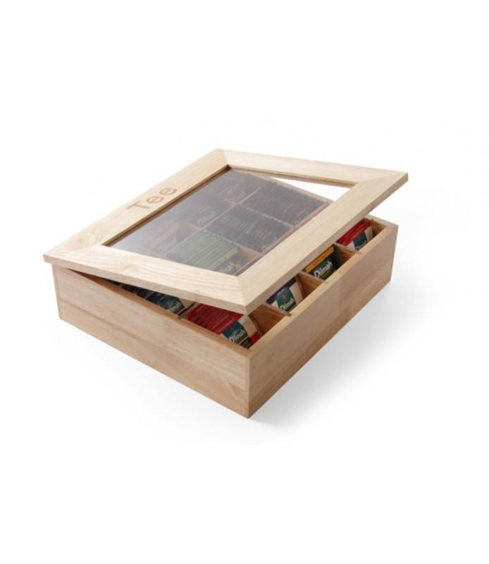 Leseni  zabojnik  za  čajne  vrečke t. Rjav 12 kos