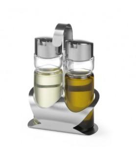 Garnitura 2- delna olje in  kis 120x75x(h)185 2x 150 ml  steklo/cns 18/0