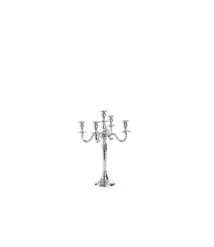Svečnik s 5 kraki  višina 52 cm aluminij