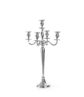 Svečnik s 5 kraki  višina 78 cm aluminij