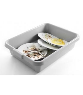 Škatla za umazane posode z ročajem 555x410x(h)130 mm siva pp