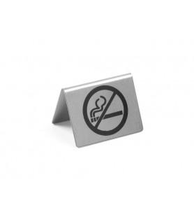 Stojalo na  mizo z  oznako »no  smoking« inox
