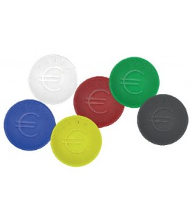 Žeton z znakom za euro fi 25.09 mm 100 kosov modra  barva
