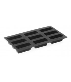 9-delni pekač silikonski 80x30x(h)33 nelepljiv