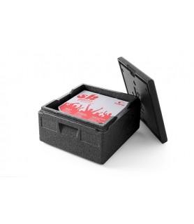 Termo  škatla kitchen line  za  pico s  pokrovom 410x410x240 mm črna pp