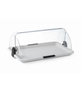 Vitrina mini s prozornim roltop pokrovom