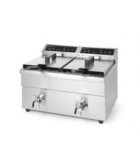 Dvojno indukcijsko globoko cvrtje  kitchen line 580x485x(h)406 inox