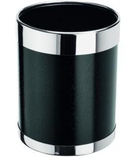 Koš črn inox rob fi-22cm viš.31cm