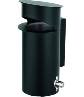 Pepelnik črn fi-13cm viš.27cm stenski
