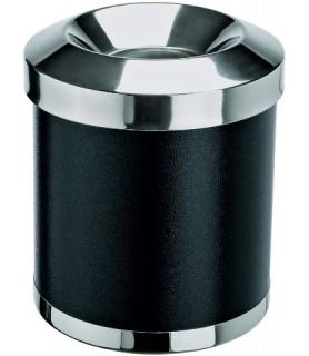 Koš za smeti inox 25x30cm, črn