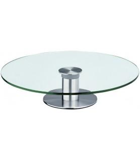 Plošča za torto vrtljiva steklo fi-30cm viš.7cm