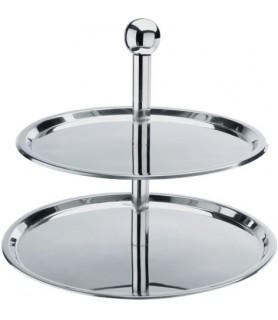 Etažar 2-delni inox plošče fi-30,40cm