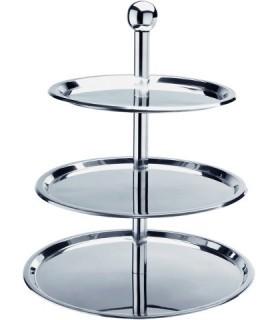 Etažar 3-delni inox plošče fi-30,35,40cm