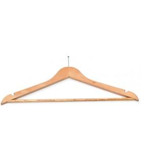 Obešalnik za oblačila lesen brez kljukice hotelski