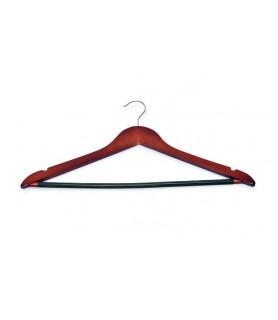 Obešalnik za oblačila lesen barva češnje
