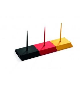 Držalo za bloke, 7,5 x 7,5 cm, črna, plastika