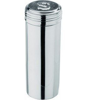 Posipalec za sol/ solnica , visoka posoda 18 cm,0,5l -krom nikel inoks