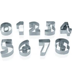 Set izsekačev številke 7,5 cm - 18/0 - št. 0-9 in pvc škatla