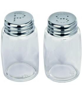 Set sol in poper, przorno steklo