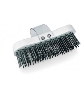 Krtača za čiščenje bolka z jeklenimi ščetinami, 18,5 cm, plastika