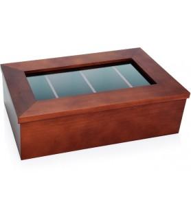 Lesen zabojnik za čajne vrečke 4 predali 34x20x10 cm