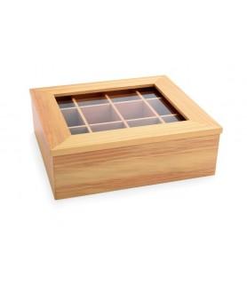 Lesen zabojnik za čajne vrečke 12 predalov 3xx28,5x10 cm