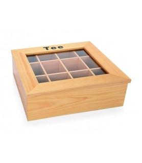 Lesen zabojnik za čajne vrečke 12predalov 32x28,5x10 cm