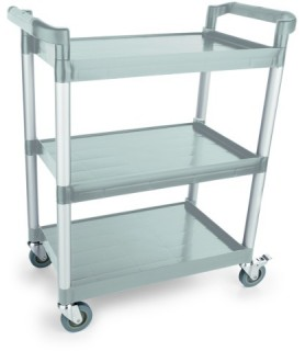 Servirni voziček  3 etažni siv