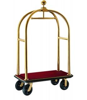 Voziček za prtljago, 110 x 62 x 190 cm, zlato,