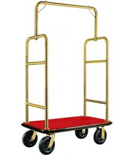 Voziček za prtljago, 110 x 62 x 175 cm, zlato,
