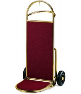 Voziček za prtljago, 45 x 74 x 122 cm, zlato,