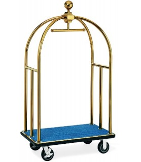Voziček za prtljago, 106 x 63 x 185 cm, zlato,