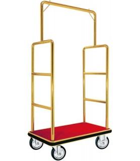 Voziček za prtljago, 105 x 62 x 180 cm, zlato obarvan,