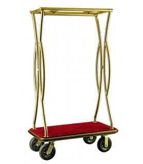 Voziček za prtljago, 110 x 62 x 180 cm, zlato,