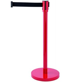 """Pregradno stojalo """"ecoflex"""" rdeč trak črn 2,0m"""