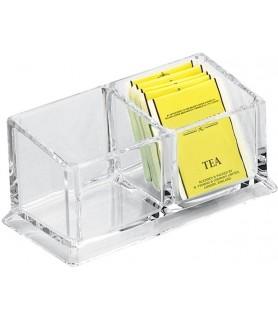 Zabojnik za čajne vrečke akryl 16,6x8,2x7,5cm