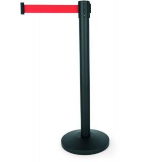 "Pregradno stojalo ""simpelflex"" črn trak rdeč 2,0m"