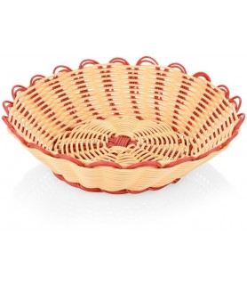 Poly-ratan košara za kruh 23x6,5cm, 2 barvna