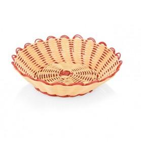 Poly-ratan košara za kruh 25x6,5cm, 2 barvna