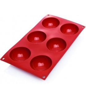 Silikonski pekač krog 6 kom. 7x3,5 cm