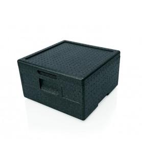 Pizza box črn 41x41x16,5cm 12 l.