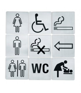 Oznaka wc, 13x13 cm